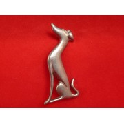 Sitting Hound Brooch