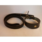 Whippet Collar and Lead  (Black)